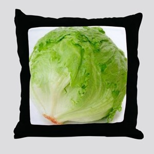 Iceberg lettuce Throw Pillow