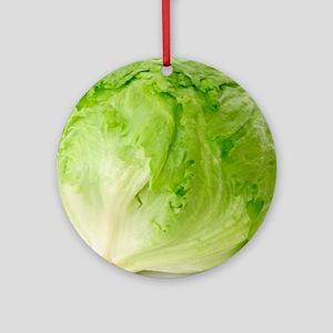 Iceberg lettuce Round Ornament