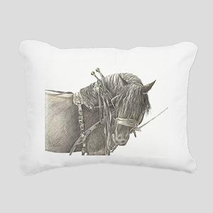 draft horse Rectangular Canvas Pillow