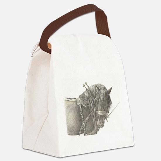 draft horse.jpg Canvas Lunch Bag