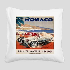 1936 Monte Carlo Grand Prix P Square Canvas Pillow