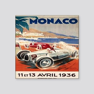 """1936 Monte Carlo Grand Prix Square Sticker 3"""" x 3"""""""
