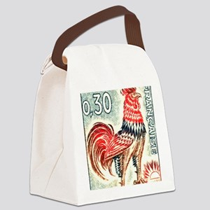 1962 France Gallic Rooster Postag Canvas Lunch Bag