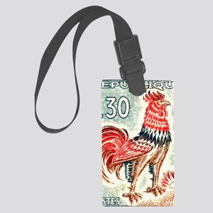 1962 France Gallic Rooster Posta Large Luggage Tag