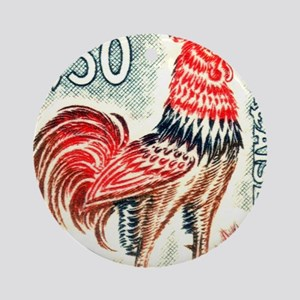 1962 France Gallic Rooster Postage  Round Ornament