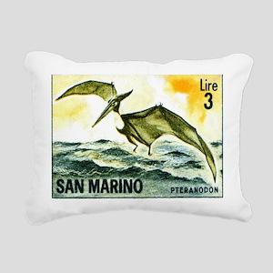 San Marino 1965 Pteranod Rectangular Canvas Pillow