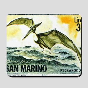 San Marino 1965 Pteranodon Postage Stamp Mousepad