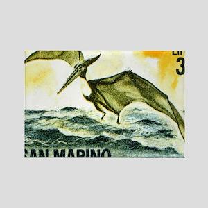 San Marino 1965 Pteranodon Postag Rectangle Magnet