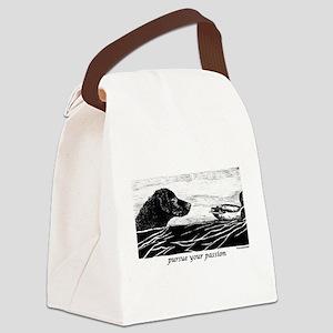 PursueYourPassionCurly Canvas Lunch Bag