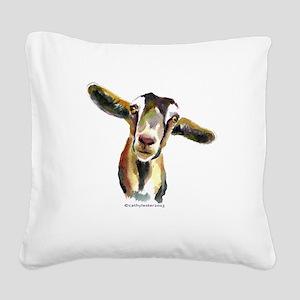 Goat Square Canvas Pillow