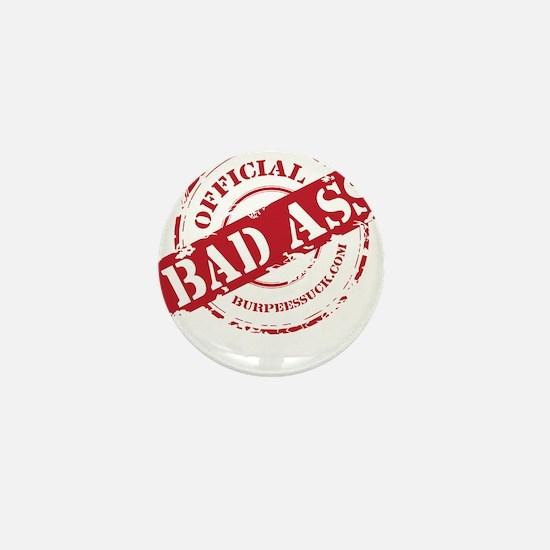BAD ASS COACH - BLACK Mini Button