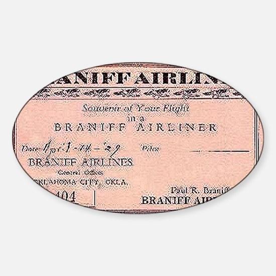 1929 Braniff ticket Sticker (Oval)