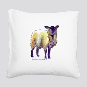 Black Face Sheep Square Canvas Pillow
