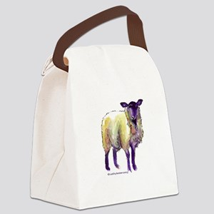 Black Face Sheep Canvas Lunch Bag