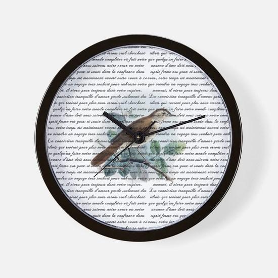 Vintage Nightingale Wall Clock