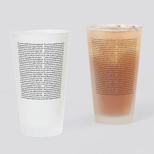French Script Drinking Glass