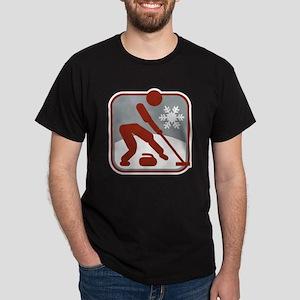 eisstockschiessen symbol Dark T-Shirt