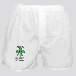 KISS ME YOU MIGHT GET LUCKY Boxer Shorts