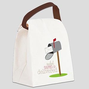 Sealed Signed & Delivered Canvas Lunch Bag