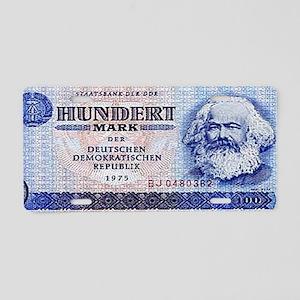 100 East German Marks Aluminum License Plate