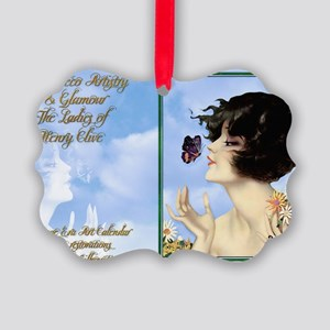 1 A CVR CLIVE BUTTERFLY KISS Picture Ornament