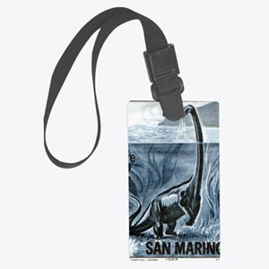 San Marino 1965 Brachiosaurus Di Large Luggage Tag