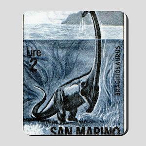 San Marino 1965 Brachiosaurus Dinosaur S Mousepad