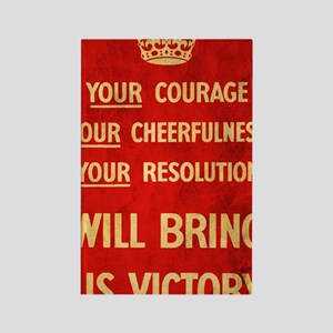 Your Courage WWII propaganda post Rectangle Magnet