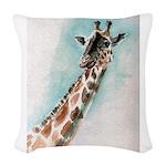 giraffe.jpg Woven Throw Pillow