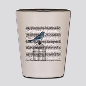 Bird on Cage Shot Glass