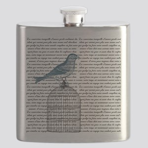 Bird on Cage Flask