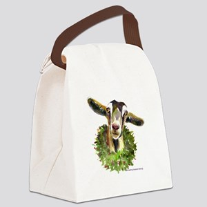 Christmas Goat Canvas Lunch Bag