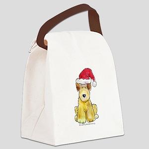 Doodle Santa Canvas Lunch Bag