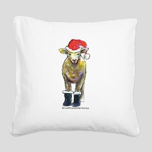SheepBoots Square Canvas Pillow