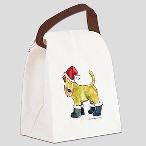 Wheaten Santa Canvas Lunch Bag