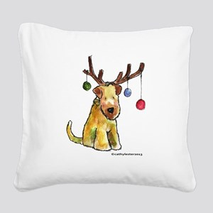 SCWTantlers Square Canvas Pillow