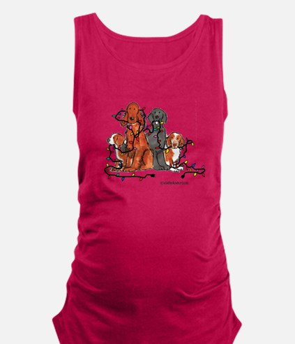 dogchristmasparty.png Maternity Tank Top