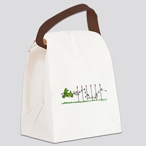 Agility Christmas Lights Canvas Lunch Bag