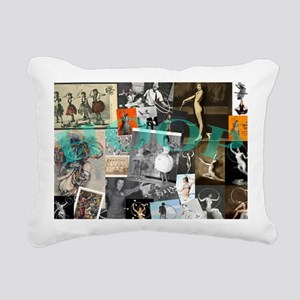 Hoop History Rectangular Canvas Pillow