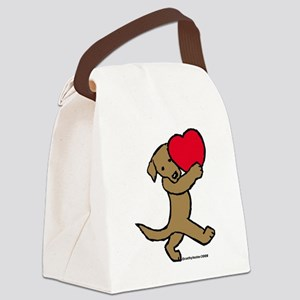ChocLabValentine.pn... Canvas Lunch Bag