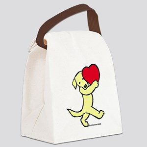 YellowLabValentine.... Canvas Lunch Bag