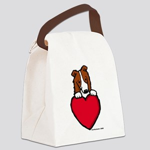 redBCValentine Canvas Lunch Bag
