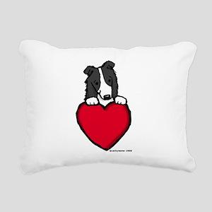 blackBCvalentine.pn... Rectangular Canvas Pillow