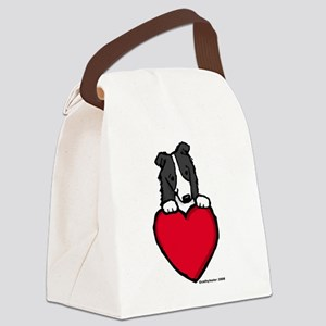 blackBCvalentine.pn... Canvas Lunch Bag