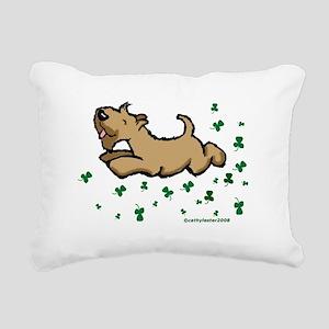 SCWTshamrockjump Rectangular Canvas Pillow