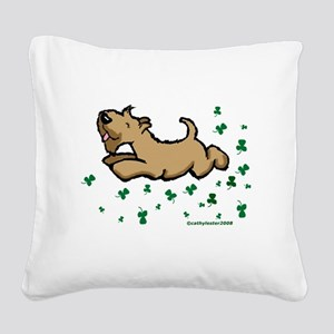 SCWTshamrockjump Square Canvas Pillow
