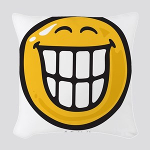delight smiley Woven Throw Pillow