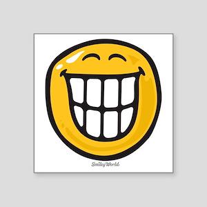 """delight smiley Square Sticker 3"""" x 3"""""""
