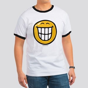 delight smiley Ringer T