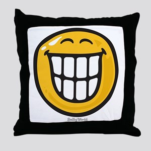 delight smiley Throw Pillow